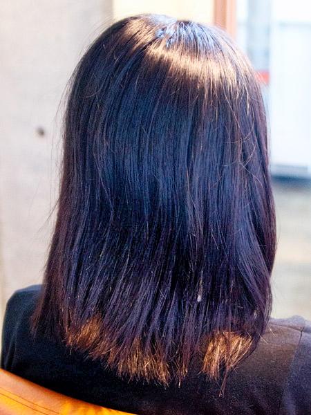 多毛ではないが大きなうねりがボリュームを出して重い感じを与えている