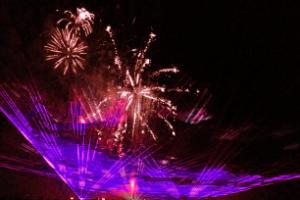 長門市 油谷町の花火大会、クライマックスをiPhoneで撮影
