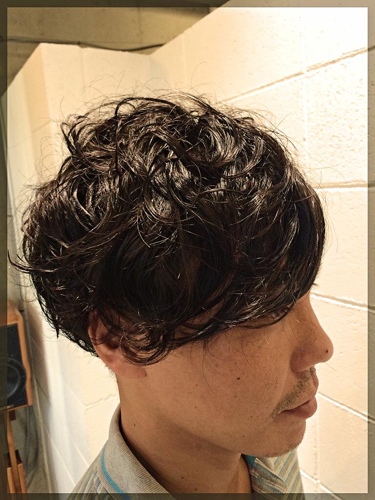 10月3日のブログ画像メンズパーマ1