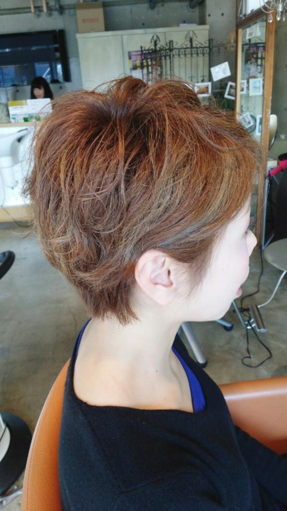 2月14日記事「素敵ショートヘアー」サイドを耳にかけたスタイル