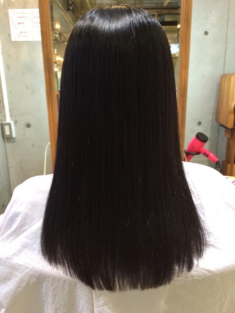 2月6日記事「JAMU縮毛矯正(*´˘`*)♡」縮毛矯正画像後全体
