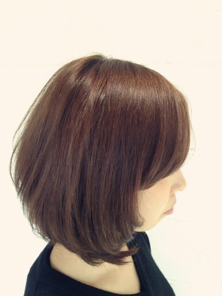 2月19日記事「春カラー!アッシュブラウンにカラーした髪」