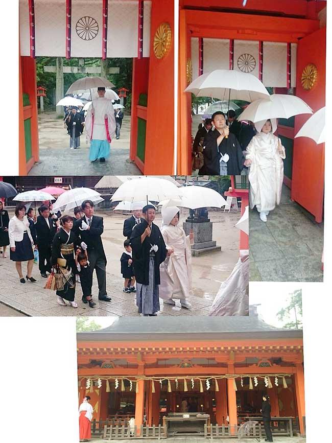 ジャムウ-住吉神社→三光園の和婚のお支度に行ってまいりました