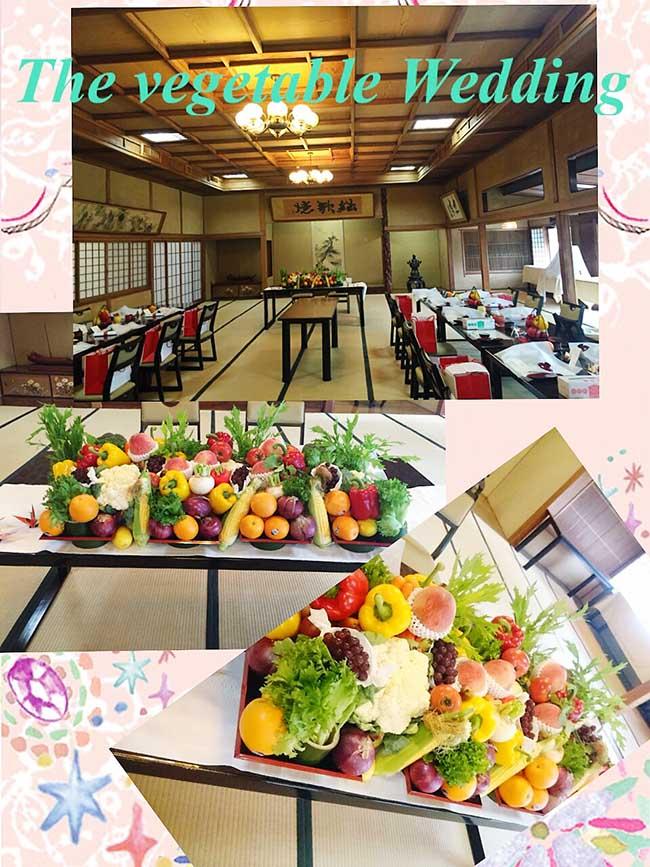 ジャムウ-神前式-参道を歩き神殿へvegetable wedding