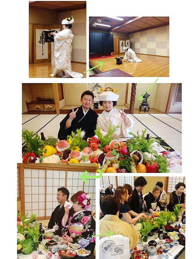 ジャムウ-デコレーションが全て野菜フルーツなのです♪