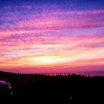 角島の駐車場からみた夕日アイキャッチ